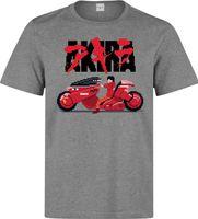 impresión de píxeles al por mayor-Akira Kineda motocicleta 8 bit pixel ilustraciones hombres (mujer disponible) camiseta gris Men's High Quality Custom Impreso Tops Hipster Tees