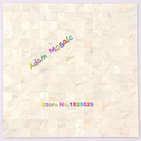 Wholesale Pearl White Tile - Mother Of Pearl Tile White Backsplash Kitchen Shell Mosaic Tile Bathroom Wall Deco Sheet