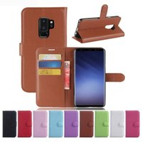 Wholesale Xiaomi Flip Cover - For Samsung S9 Plus J2 Pro A8 2018 XiaoMi RedMi 5 5Plus Litchi Wallet Flip PU Leather Case Cover Bag With Card Slots Stand