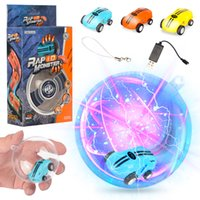 Wholesale Mini High Speed Laser Light Cars spinner rotations Funny cool lights many kinds of tricks USB Recharging kids toys spin gearsC4926