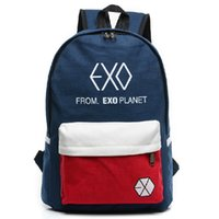 Wholesale exo bags - 2018 new Women's Colorful Canvas BackpacRucksacMen Student School Bags For Girl boy Casual Travel EXO bags B140