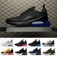 Wholesale Media Photos - 270 Photo Blue Running shoes Navy Teal Mens Flair Triple Black AH8050 Trainer Sports Shoe Medium Olive Bruce Lee Womens 270s Sneakers 36-45