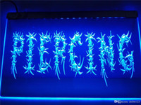 Wholesale tattoo neon signs for sale - Group buy LB295 b OPEN Piercing Body Ear Tattoo LED Neon Light Sign