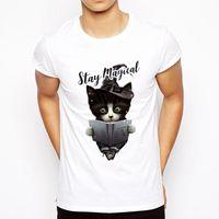 vilains t shirts achat en gros de-Vente chaude D'été Naughty Black Cat 3d T-shirt Hommes Belle Bande Dessinée T-shirts De Bonne Qualité Original Marque Tees Casual