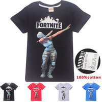 Wholesale clothes for kids fashion girls boys for sale - Boys Girls fortnite T shirts New Children Game Cartoon cotton Short sleeve t shirt Baby kids clothing for years B11