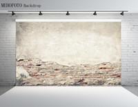 pared de ladrillo prop al por mayor-2.2X1.5M Vinilo Fotografía Telones Fondo de la pared de ladrillo Estudio fotográfico Telón de fondo Accesorios Fotografía horizontal Fondo personalizado