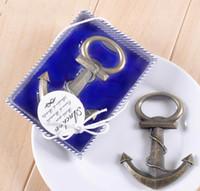 ingrosso favori di ancoraggio-Vintage Antique Style Nautica Navi Boat Anchor Beer Bottle Opener Kitchen Bar Tool Bomboniere Regali