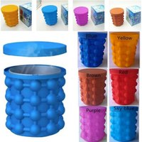 Wholesale blue tongs for sale - Group buy New cm Silicone Ice Cube Ice Bucket Revolutionary Space Saving Ice Genie Kitchen Tools for Chilling Beverage I238