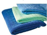 magische wischt groihandel-Mikrofaser-Reinigungstuch aus Mikrofaser Geschirrtücher Abwischen Staubrags magisches Tuch 24 * 32CM Klassische Grid Handtücher