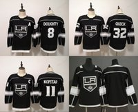 61223ef77 Womens Lady Youth Kids Los Angeles Kings Anze Kopitar Jonathan Quick Drew  Doughty Blank Hockey Jerseys Double Stiched Black