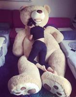 büyük doldurulmuş hayvan yastıkları toptan satış-Toptan-130 cm Büyük büyük Amerika ayı Dolması hayvan teddy bear kapak peluş yumuşak oyuncak bebek yastık örtüsü (şeyler olmadan) çocuklar bebek yetişkin hediye