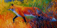 Wholesale museum art painting resale online - Foxy Red Fox Canvas Print Modern Canvas Wall Art for Home and Office Decoration Oil Painting Anima on Canvas Museum special water based ink