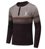 kadın örme süveter tasarımı toptan satış-Yeni Moda Kadın Erkek Örgü kazak Ceket erkek Tişörtü Yüksek kalite Lüks tasarım unisex Casual Sıcak kaşmir kazak ceket # 11213
