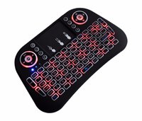 тонкий мини-планшет оптовых-Mini Wireless slim gaming Keyboard 3 colour backlight 2.4GHz Charging Remote Control Touchpad For Android TV Box Tablet Pc