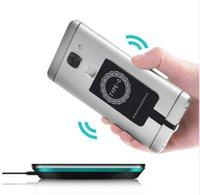 yeni qi kablosuz şarj cihazı toptan satış-Yeni Qi Kablosuz Şarj Alıcı Modülü iPhone Akıllı Şarj Adaptörü Android için Kablosuz Şarj Alıcı Verici