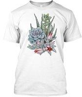ingrosso succulente-T-shirt unisex Midnight Succulents
