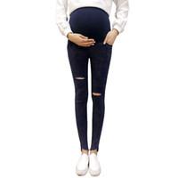 09725f476 pantalones para mujeres embarazadas al por mayor-Strench Jeans Pantalones  de maternidad para mujeres embarazadas