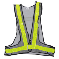 chalecos de seguridad negros al por mayor-Hi-Viz Chaleco reflectante Alta visibilidad Advertencia Tráfico Construcción Equipo de seguridad Negro Amarillo
