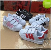 Wholesale baby closes - Hot Sale Fashion baby Casual Shoes Superstar Female Sneakers kids Zapatillas Deportivas Mujer Lovers Sapatos Femininos