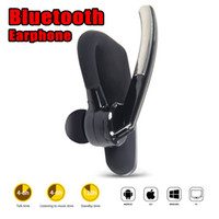 Wholesale universal ear hooks - High Quality Bluetooth headphones Wireless Headsets Bluetooth 4.0 bluetooth stereo headset for iphone samsung with package