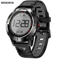 boussole android achat en gros de-Beseneur G01 GPS Montre Smart Watch Hommes IP68 Étanche Pression Artérielle Montre Sport Boussole Smartwatch Android IOS Téléphone