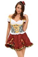 meninas francesas sexy venda por atacado-Clube new Lingerie Sexy Cosplay Halloween Francês empregada mini vestido para As Mulheres Trevo Sweetie Adulto Beer Garden Girl Costume 8999