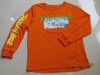 chemise kanye west achat en gros de-KANYE WEST Nouveau Design T-shirt WYOMING vous Album Lettre Manches Longues T-shirts Mode Homme Vêtements Tops