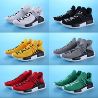 Wholesale Lace Up Boots For Men Cheap - NMD Human Race Pharrell Williams X Running Shoes For Men Women boots Cheap Sneakers High Quality 2018 Sports Shoes Size 5.5-11