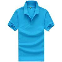 orange polo-stil hemden großhandel-Designer Polo Shirt Herren Bekleidung Kurzarm T-Shirts für Damen Sommer Style Classic Tops Blau Schwarz Weiß Solid Color
