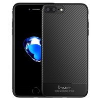 Wholesale Carbon Black Packaging - iPaky Case For iPhone 7 8 Plus Carbon Fiber Back Cover Soft Durable TPU Soft Cases With Retail Package Wholesale In Stock