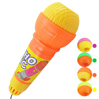 Wholesale free gifts microphones online - Microphone Mic Voice Changer Toy Gift Birthday Present Kids Party Song happy time instrumentos musicales ninos