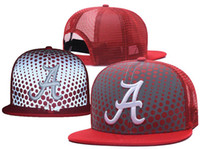 4ee2c17e1ed New Caps 2018 College Football Snapback Hats Net Cap Red Color Alabama Team  Hats Mix Match Order All Caps Top Quality Hat Wholesale