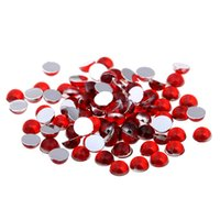 украшения для рюкзака оптовых-8mm 500pcs Acrylic Rhinestones Falf Round Flatback DIY Craft Backpack Garment Accessories DIY Nail Art Decorations