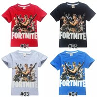 Wholesale years boys red white clothes - Boys Girls fortnite t shirt Cotton designs years old kids t shirt summer Short Sleeved kids clothing children clothing