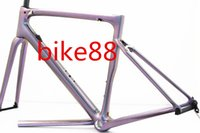 Wholesale carbon frame road bicycle 58cm online - 2019 new arrival glossy women girl style bicycle carbon frame white red road bike framset SW bike frame cheap framework