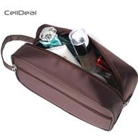bolsa de afeitar de los hombres al por mayor-CellDeal Brand New Shaving Bag Dopp Kit Elegante Nylon Travel Bag para el baño 3 colores Travel Wash Makeup Bags Storage