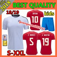 Wholesale Children Size Jerseys - 2018 Costa Rica soccer jersey child world cup 18 19 woman BRYAN G.gonzález J.VENEGAS K.WASTON football shirt men size S-XXL