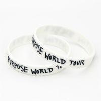 ingrosso bracciali di justin bieber-1PC vendita calda Justin Bieber braccialetti bianco scopo mondo tour justin bieber braccialetti in silicone braccialetti per gli appassionati di musica SH077