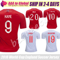 Wholesale national uniforms - Kane Jersey 2018 World Cup Great Britain National team Uniforms Dele RASHFORD football shirts 18 19 red Sterling football uniform