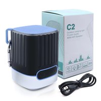Wholesale Power Outdoor Speakers - Portable Wireless Bluetooth Speaker C2 With 4000mAh Battery Power Bank for iPhone X 8 Xiaomi Samsung S9 Outdoor Camping Light Riding Speaker