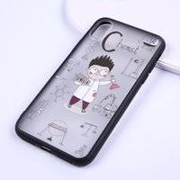 Wholesale figure apple - Lovely Cartoon Chemist figure painted translucent Hard Phone Case For iPhone 5 5s se 6 6S 6plus 7 7plus 8 8s plus X Company customized