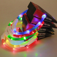 Wholesale rechargeable led dog collar online - LED Dog Collar USB Rechargeable Pet Supplies Glowing At Nigh Collar Lead For Small Medium Large Size Pets Cats Dogs Multi Colors new styles