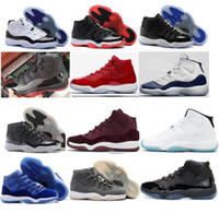 Wholesale leather velvet - High Quality 11 11s Legend Blue Black Red Cool Grey Men Women Basketball Shoes 11s Gray Suede Velvet Blue Sneakers With Shoes Box