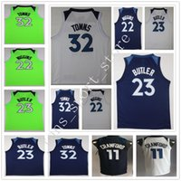 Wholesale Blue Jimmies - 2018 New Season Green #32 Karl-Anthony Towns Jersey Blue White #23 Jimmy Butler Stitched #22 Andrew Wiggins #11 Jamal Crawford Jerseys