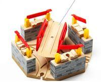 деревянные дорожки оптовых-Best Baby Christmas DIY развивающие деревянные игрушки Tomas and Friends Railway Train Toys Luxury Switch