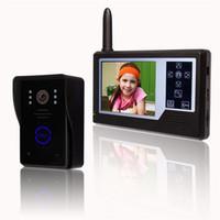 sistema de cámara de puerta inalámbrico al por mayor-Cámara de visión nocturna con video inalámbrico de 3.5 pulgadas TFT LCD Teléfono de puerta inalámbrico 2.4G Sistema de intercomunicación con video inalámbrico