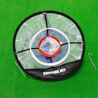 golf kumaşları toptan satış-Golf Aceessories Three Layers Training Aids Practice Net Outdoor Convenient Foldable Memory Metal High Grade Nylon Mesh Cloth 24 5zh Ww