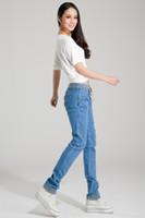Wholesale zipper pocket harem pant for sale – dress Fashion Summer Women Elastic Jeans Woman Loose Harem Jeans Women Harem Pants Plus Size Jeans for Women Washed