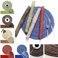 Wholesale pets recycling - Kitchen Table Mats 35cm Cotton Yarn Round Table Napkin Drink Coasters Tableware Mats Pads Decorative Placemats I394
