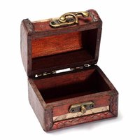 Wholesale Handmade Stamped Jewelry - 2017 Lock Jewelry Treasure Case Handmade Wooden Storage Boxes Bins Wooden Box Stamp Flower